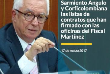 Robledo solicita a Sarmiento Angulo y Corficolombiana las listas de contratos que han firmado con las oficinas del Fiscal Martínez