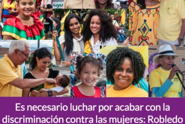 Es necesario luchar por acabar con la discriminación contra las mujeres: Robledo